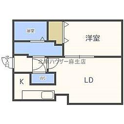 北海道札幌市北区北三十九条西5丁目の賃貸マンションの間取り
