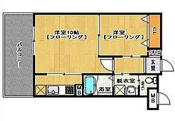 S-FORT筑紫通り[2階]の間取り