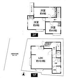 一戸建て(保谷駅から徒歩13分、83.40m²、2,680万円)