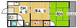 ユニメント西村美桜[2階]の間取り