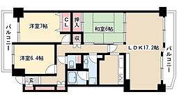 山手通シティハウス[7階]の間取り