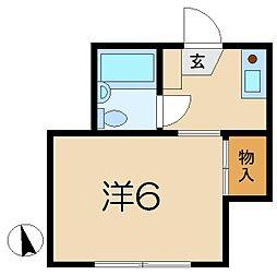 プチコート1[1階]の間取り