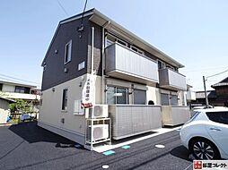 群馬県高崎市新町の賃貸アパートの外観