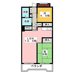 ビレッジハウス笠寺タワー[2階]の間取り