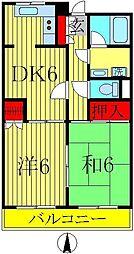 東京都足立区綾瀬3丁目の賃貸マンションの間取り