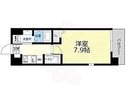 JR大阪環状線 大正駅 徒歩12分の賃貸マンション 2階1Kの間取り