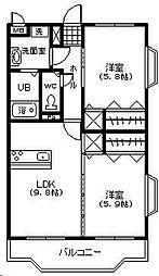 フェニックスマンション A棟[303号室]の間取り