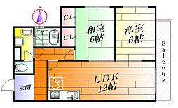 三島ハイツ[3階]の間取り