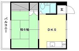 コーポ神岡[202 号室号室]の間取り