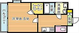 ベルガ穴生[2階]の間取り