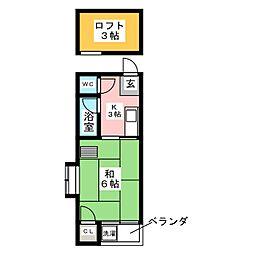 タウニー高宮I[2階]の間取り