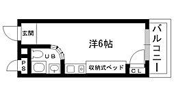 ピュアハウス甲子園[508号室]の間取り