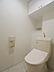 温水洗浄便座付トイレ。