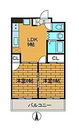 メゾン・ド・シオン[2階]の間取り