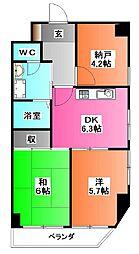 東京都荒川区西尾久1の賃貸マンションの間取り