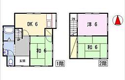 [一戸建] 兵庫県姫路市西庄 の賃貸【/】の間取り