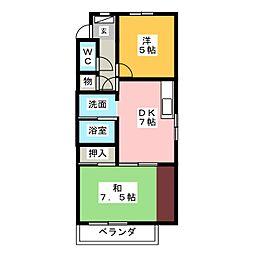 ハイネス石田[4階]の間取り