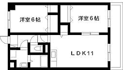宮崎県宮崎市城ケ崎3丁目の賃貸アパートの間取り