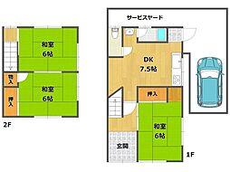 [テラスハウス] 兵庫県伊丹市高台3丁目 の賃貸【/】の間取り