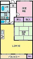 山宮マンション[4階]の間取り