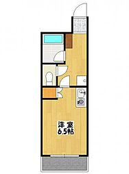 プロシード本八幡[302号室]の間取り