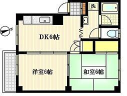 えびすマンション[1階]の間取り