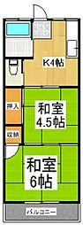 三上荘[2階]の間取り