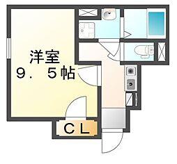 広島県尾道市山波町の賃貸アパートの間取り