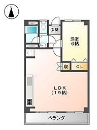 永安ビル[2階]の間取り