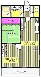 マック北戸田コート[2階]の間取り