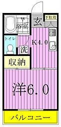 レジデンスヨシノ[201号室]の間取り
