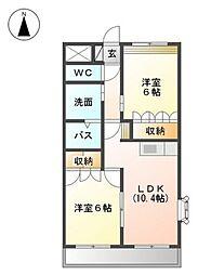 コンフォースエイト[2階]の間取り