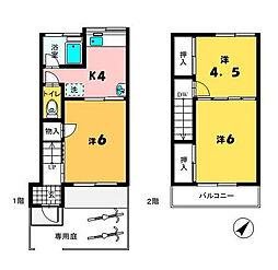 [一戸建] 千葉県市川市行徳駅前2丁目 の賃貸【/】の間取り