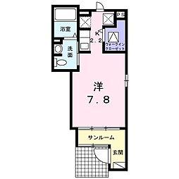 シャルマン藍(シャルマンアイ)[1階]の間取り