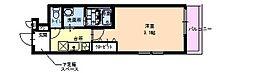 フジパレスヴィレッジ白鷺 3階1Kの間取り