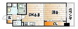 仮)中原東新築マンション[6階]の間取り