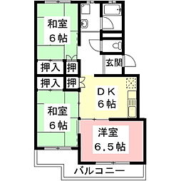 岐阜県住宅供給公社 メゾン東大垣[C305号室]の間取り