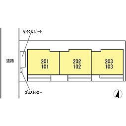 仮 D−room神明[102号室]の外観