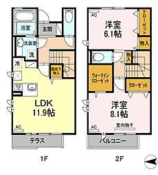[テラスハウス] 東京都練馬区旭町1丁目 の賃貸【/】の間取り