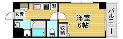 京阪電鉄中之島線 中之島駅 徒歩9分の賃貸マンション 1階1Kの間取り