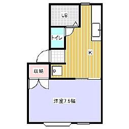 シティハイツ[1階]の間取り