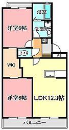 ラ・グランドメゾンII[2階]の間取り