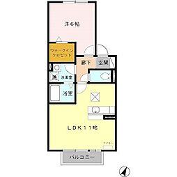 愛知県名古屋市緑区青山3丁目の賃貸アパートの間取り