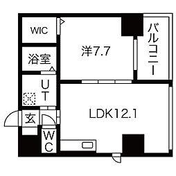 BERG IZUMI[9階]の間取り