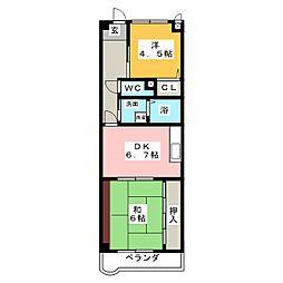 アメニティ雁道[2階]の間取り