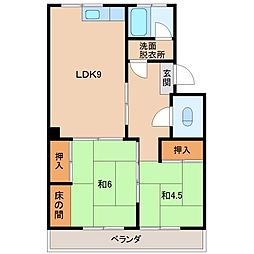 グリーンマンションII[1階]の間取り