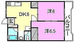 ことぶきホーム[402 号室号室]の間取り