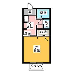 三重津市時田ハウスB[2階]の間取り