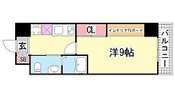 アルテ兵庫津[3階]の間取り