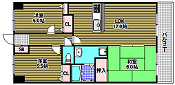 ダイアパレス光明池[5階]の間取り